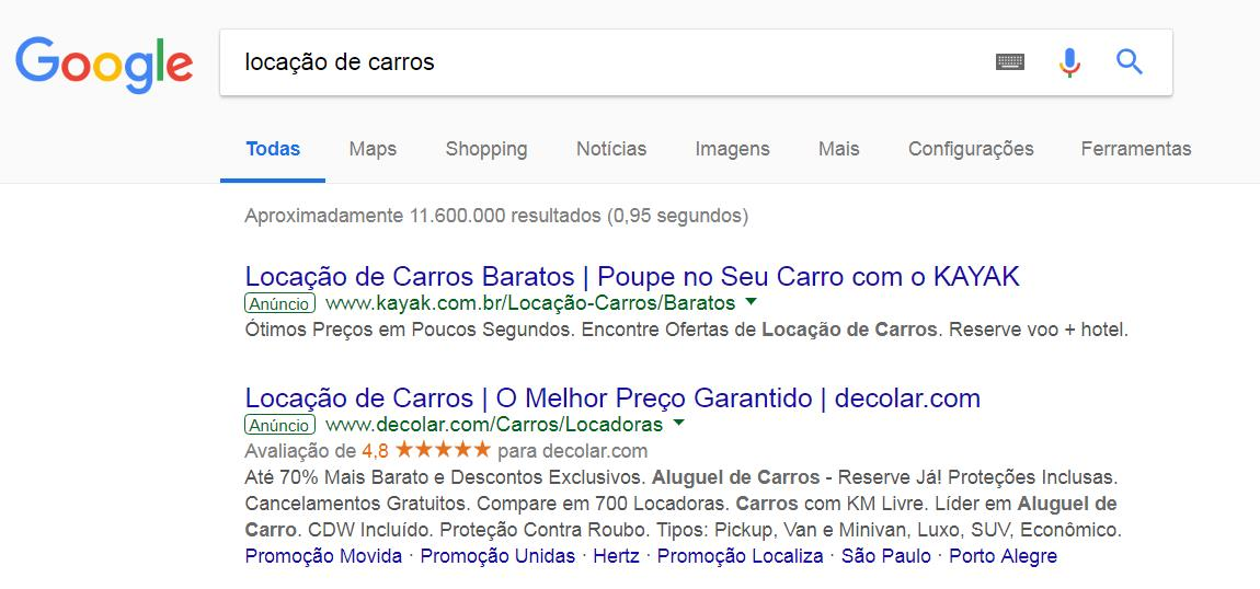 Busca Paga Google
